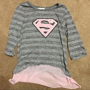 SUPERGIRL Sweater shirt with SPatch on front